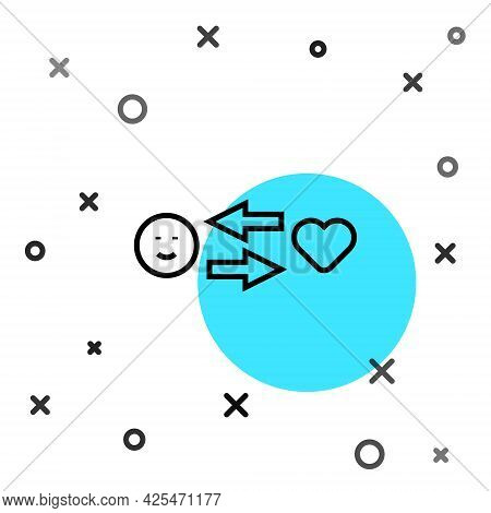 Black Line Romantic Relationship Icon Isolated On White Background. Romantic Relationship Or Pleasan