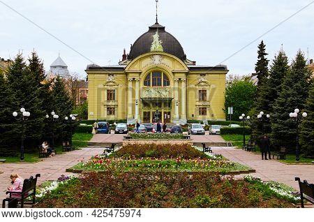 Chernivtsi, Ukraine-may 13, 2021:picturesque Landscape View Of Olga Kobylyanskaya Academic Regional