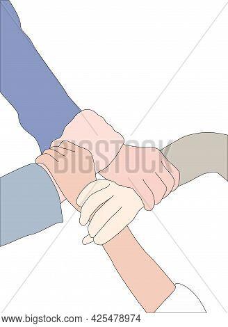 Cooperative Organization Teamwork Illustration - Team Hand Illustrated On Transparent Background
