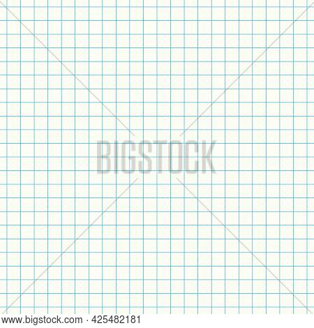 White Note, Notebook Paper Sheet For Text Stuck With Gray Sticky Tape Vector Illustration.
