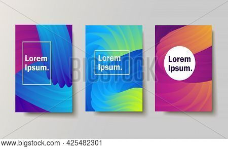 Set Of Backgrounds With Trendy Design. Applicable For Covers, Placards, Posters, Fliers And Other. V