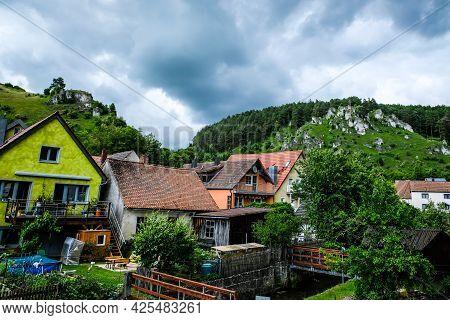 Leipzig, Germany - June 30, 2021: Historical City Of Pottenstein, Bavara, Germany
