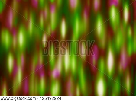 Green Red Pink Festive Background With Blur And Gradient. Space For Graphic Design And Creative Idea