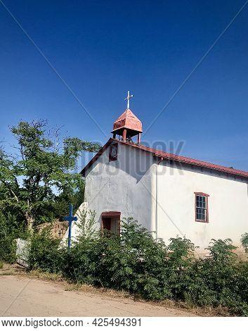 Historic Spanish Church Near Santa Fe, Nm