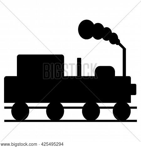 Caution Beware Of Trains Symbol Sign Isolate On White Background