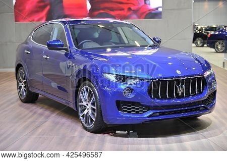 Bangkok-april 4 Maserati  Car At The 38th Bangkok International Motor Show 2017 On April 4, 2017 In