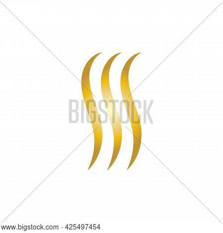 S Letter Gold Hair Logo And Symbol Template Symbol Illustration Design