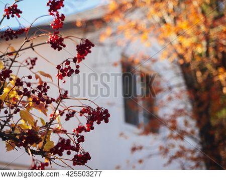 Chernousovo Village, Sverdlovsk Region, Russia, October 04, 2020: House In The Village. Wooden House