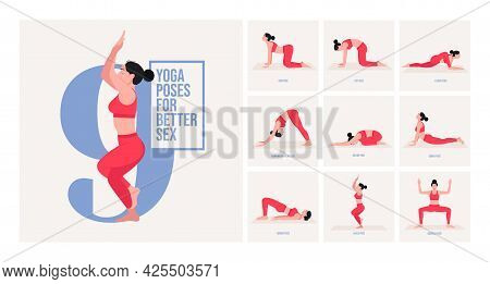 Yoga Poses For Bloating. Young Woman Practicing Yoga Pose. Woman Workout Fitness, Aerobic And Exerci