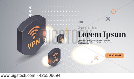 Virtual Private Network Web Security Privacy Concept Secure Vpn Connection Personal Data Protection