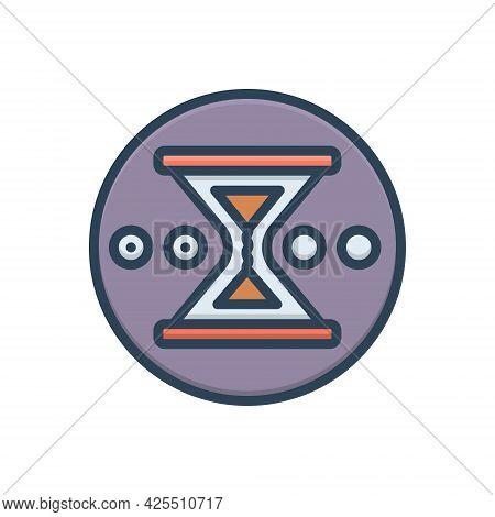 Color Illustration Icon For Pending Imperfect Unfinished Unaccomplished Wait-timer Sandglass Hourgla