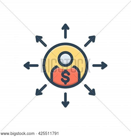 Color Illustration Icon For Liabilities Responsibility Person Loan Debt
