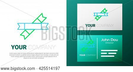 Line Sugar Stick Packets Icon Isolated On White Background. Blank Individual Package For Bulk Food P