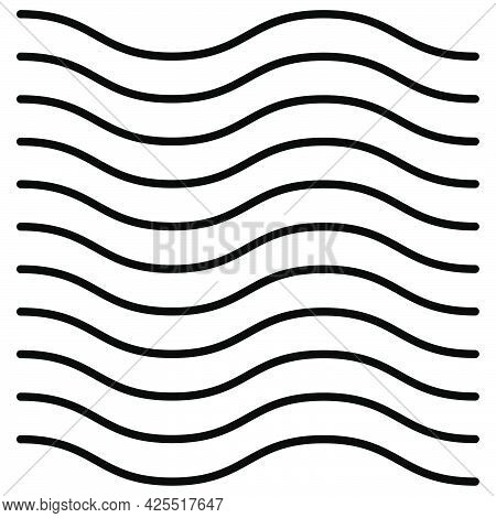 Seamlessly Repeatable Wavy Waving Undulate Billowy Lines Stripes Pattern Texture Background