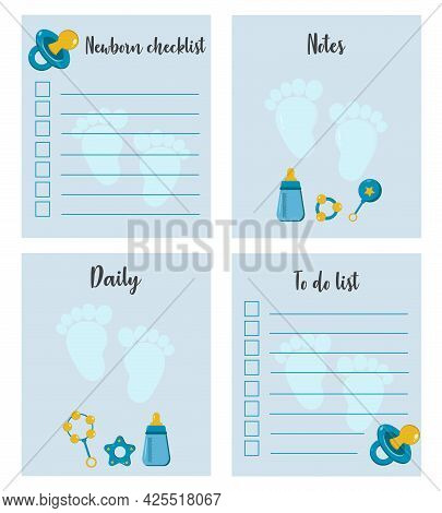 Checklist, To-do List, Place To Take Notes For Mom. Checklist For The Mother Of A Newborn Girl. Nice