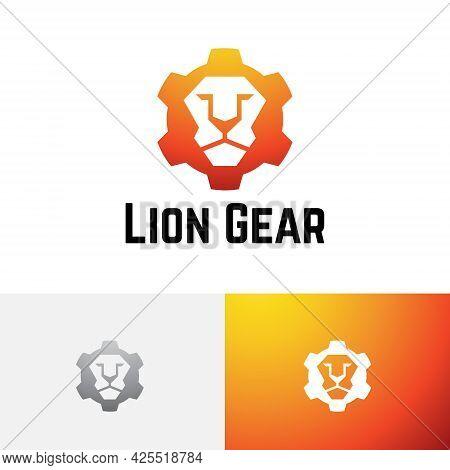 Predator Lion Gear Strong Machine Industry Logo
