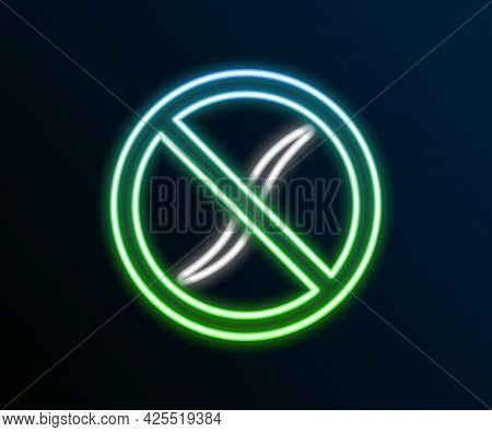 Glowing Neon Line Anti Worms Parasite Icon Isolated On Black Background. Colorful Outline Concept. V