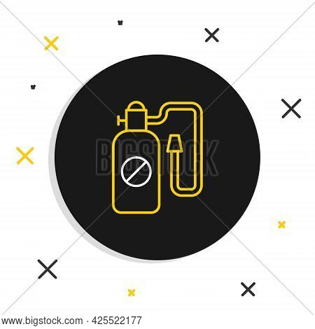 Line Pressure Sprayer For Extermination Of Insects Icon Isolated On White Background. Pest Control S