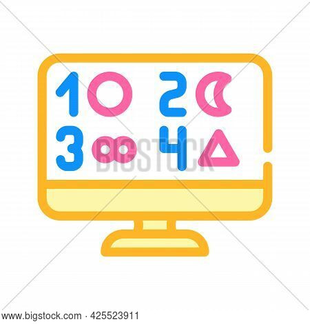 Phobia Test Color Icon Vector. Phobia Test Sign. Isolated Symbol Illustration