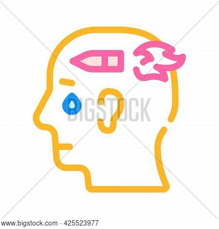 Military Psychology Color Icon Vector. Military Psychology Sign. Isolated Symbol Illustration