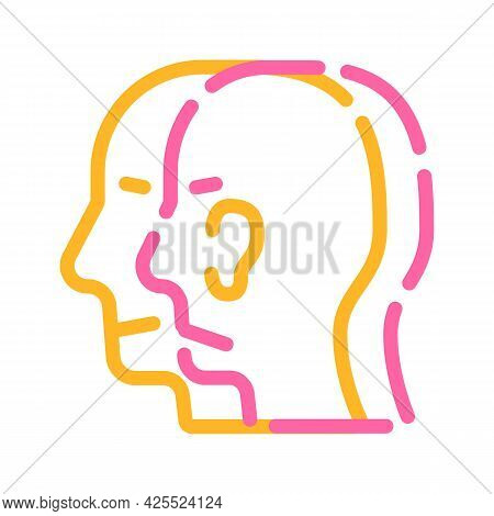Split Personality Color Icon Vector. Split Personality Sign. Isolated Symbol Illustration