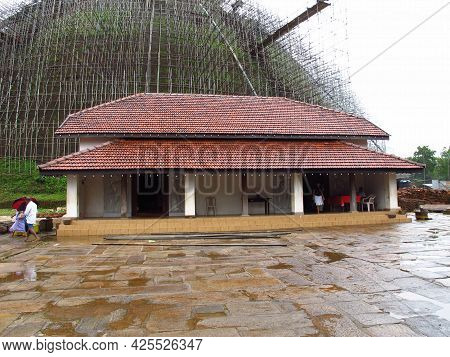 Anuradhapura, Sri Lanka - 05 Jan 2011: Abhayagiri Dagaba, Anuradhapura, Sri Lanka
