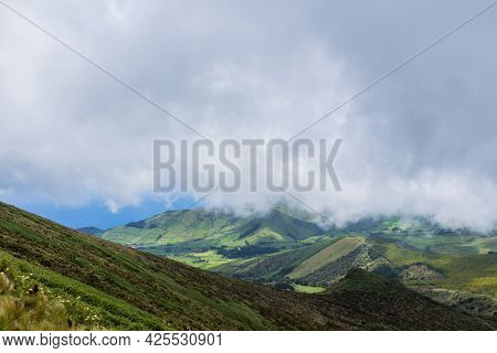 A green landscape of the Azores, Flores, Portugal