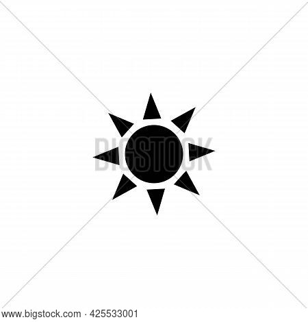 Brightness Control Line Icon In Solid Black And Grey. Trendy Flat Isolated Symbol, Sign Used For: Il