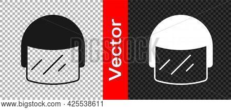 Black Police Helmet Icon Isolated On Transparent Background. Military Helmet. Vector