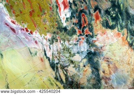 Beautiful Natural Pattern Of Ural Jasper. Abstract Background. High Quality Photo