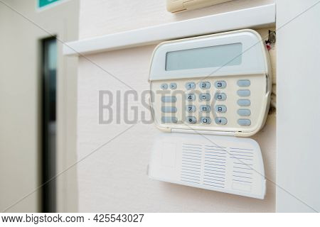 Alarm System In An Apartment, House Of Business Office. Surveillance And Protection Console Against