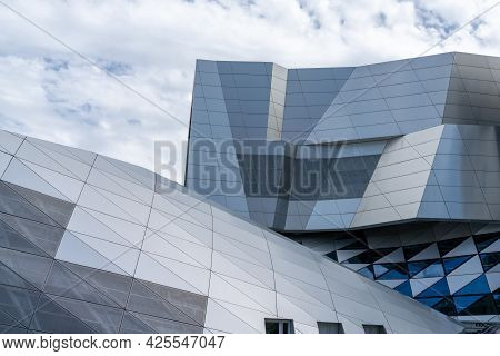 Aalborg, Denmark - 7 June, 2021: Detail View Of The Iconic House Of Music In Aalborg