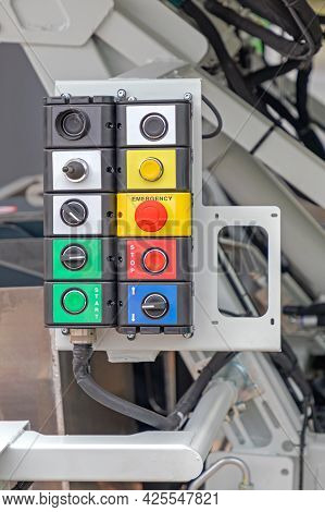 Garbage Truck Operation Heavy Duty Control Buttons