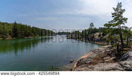 A Beautful Archipelago With Islands And Forest Landscape On The Ocean Coast On A Summer Day
