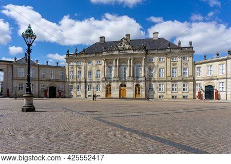 Copenhagen, Denmark - 13 June, 2021: View Of Christian Vii Palace On The Amalienborg Castle Square I