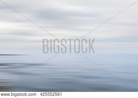 Nature Background. Abstract Seascape In Motion Blur.