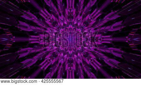 Crystal Purple Ornament 4k Uhd 3d Illustration
