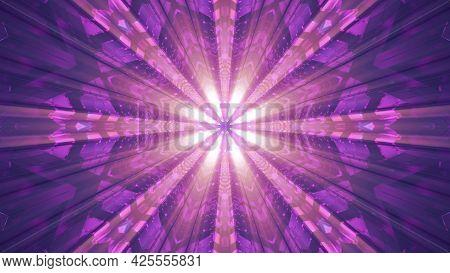Abstract Tunnel Illuminated With Beams 4k Uhd 3d Illustration