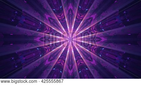 Symmetric Abstract Ornament 4k Uhd 3d Illustration