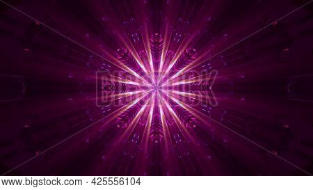 Crystal Ornament With Rays 4k Uhd 3d Illustration