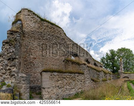 Alvastra, Sweden - 20 June, 2021: View Of The Alvastra Abbey Ruins In Southern Sweden