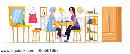 Home Manicure Image. Isolated Editable Vector Illustration