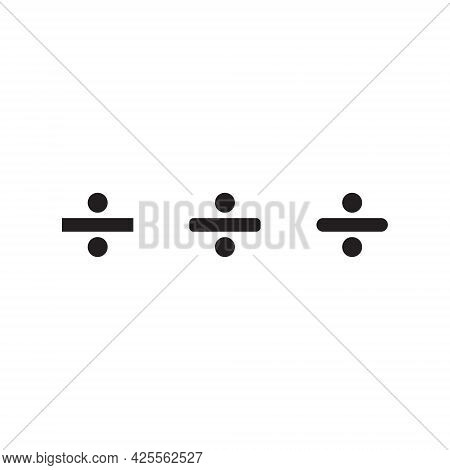 Division Icon Vector. Divide Symbol Images - Icon