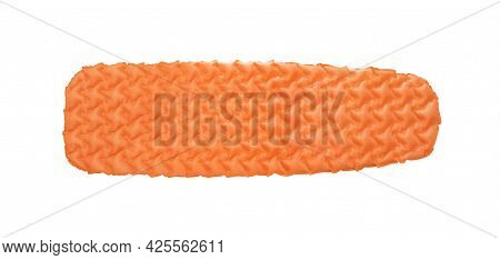 Self Inflating Camping Mat For Camping Or Trekking Isolated On White
