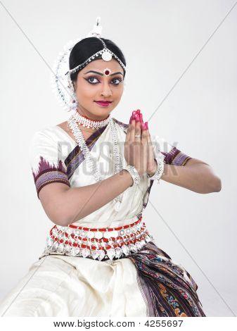 Classical Female Bharathanatyam Dancer