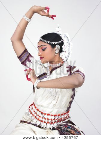 Female Odissi Dancer Of Indian Origin