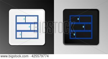 Line Shelf Icon Isolated On Grey Background. Shelves Sign. Colorful Outline Concept. Vector