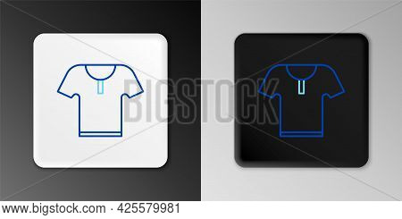 Line Body Armor Icon Isolated On Grey Background. Colorful Outline Concept. Vector