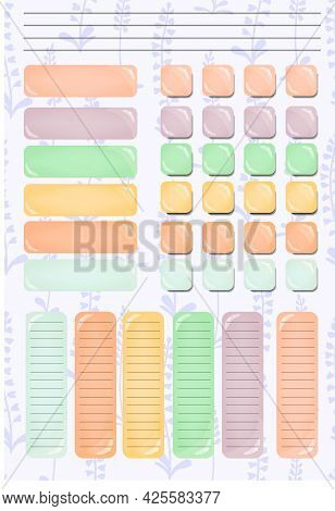Mockup Template With Blank Student Habit Tracker Template. Management Strategy. Business, Teamwork.