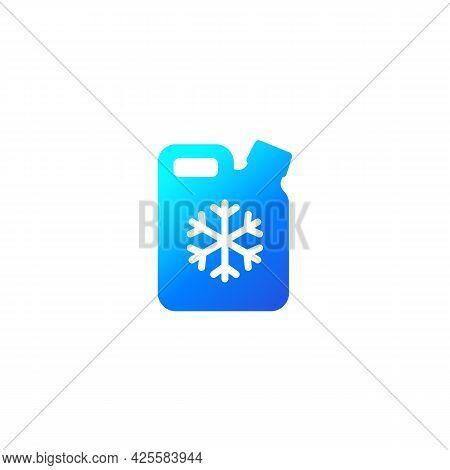 Antifreeze Or Coolant Icon On White, Vector